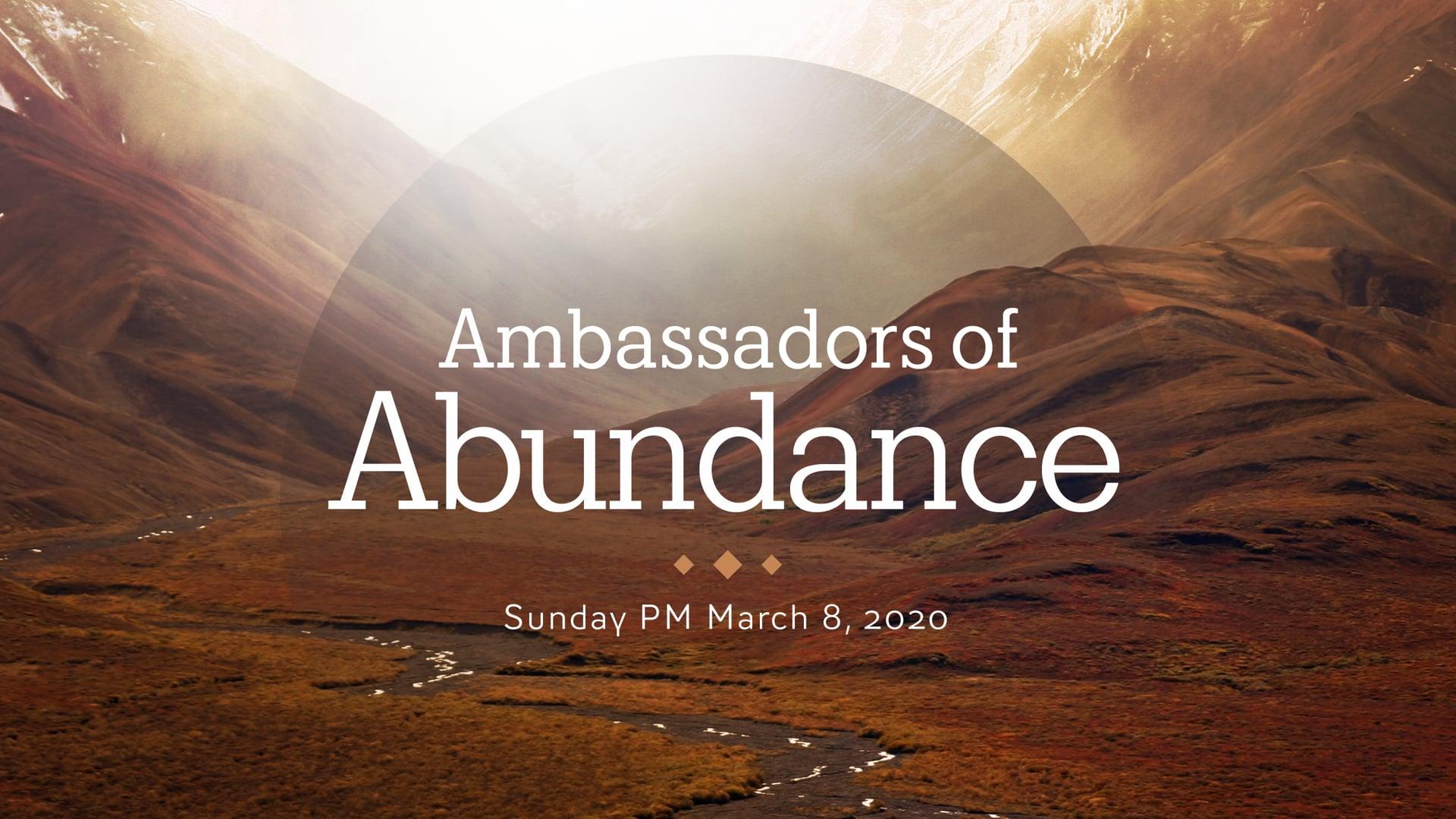 Ambassadors of Abundance