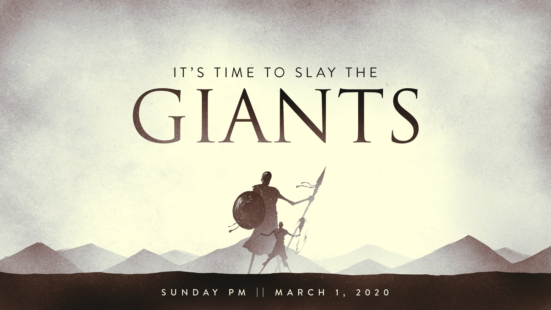 It's Time to Slay the Giants